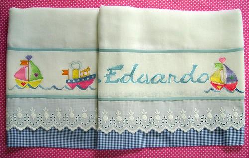 TOALHA DE FRALDA BORDADA