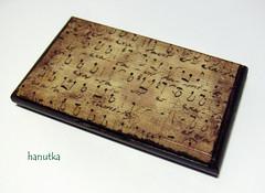 Muzyczny (hanutka) Tags: vintage box handmade craft decoupage pudełko businescard rękodzieło robótki wizytówka businescardbox wizytownik