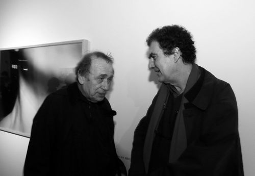 Storefront co-design Vito Acconci shares a moment with Chevrier.