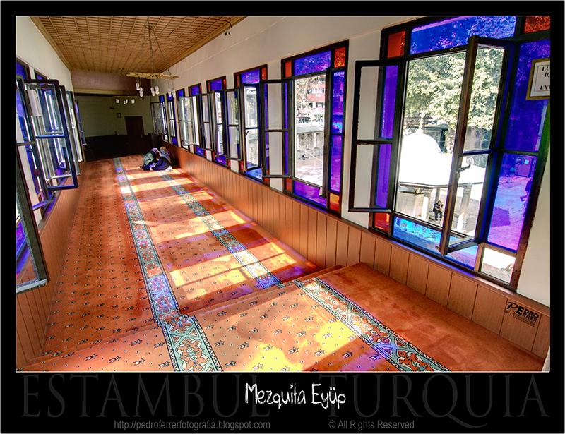 Mezquita de Eyüp - pasillo