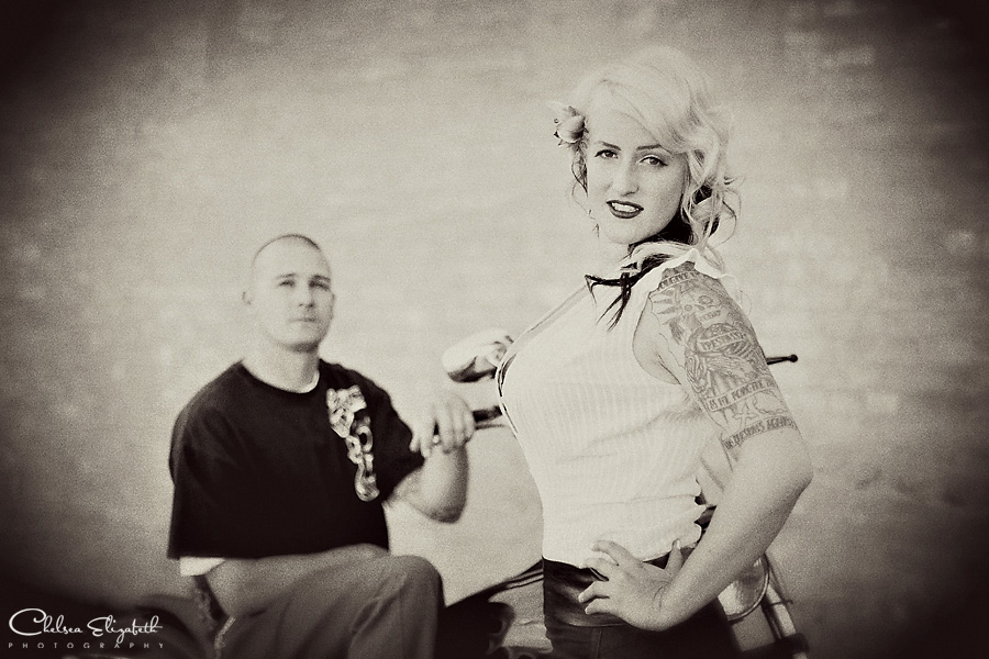 Vintage 50s Pin Up Engagement Session Image