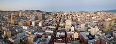 Having Fun in San Francisco (Scott Barlow) Tags: california bridge sunset panorama beach square landscape golden nikon gate san francisco downtown raw nef south united hill union un sutro powell mission russian tamron nations nob d300 af1750mmf28spxrdiiivc