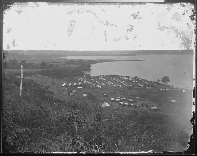 Camp of 15th NY Engineers and 1st Mass Heavy Artillery Belle Plain May 1864 by The US National Archives