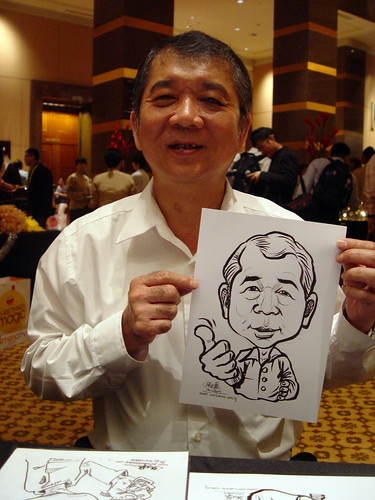 Caricature live sketching for Hitachi Plant Technologies D&D 2009 - 7