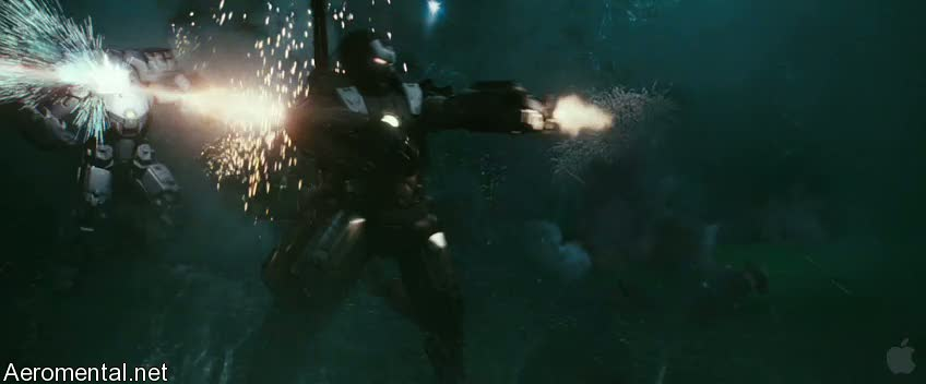 Iron Man 2 Trailer 2 war Machine in action