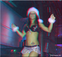 Cancun Cantina Christmas Party '09 (starg82343) Tags: christmas xmas girls friends party portrait hot sexy female bar club fun costume 3d outfit pretty dancing feminine brian cristina indoors stereo wallace worker inside mischievous waitress cantina bartender employee alluring skimpy danceclub brianwallace cancuncantina