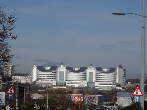 Birmingham Super Hospital as seen from Selly Oak