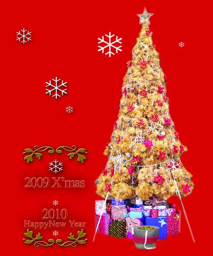 你拍攝的 2010年祖師廟揶誕樹卡片。