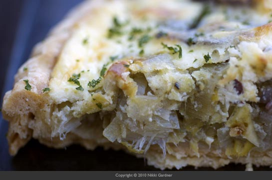 potato leek tart