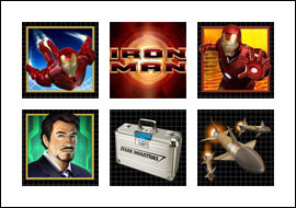 free Iron Man slot game symbols