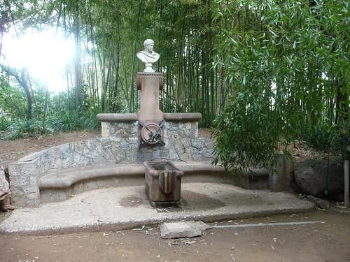 fontaine au jardin du palais de pedralbes