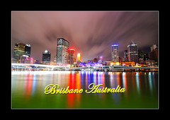 Brisbane, Australia (Deenganu Photography) Tags: color reflection building tourism night composition river landscape photography iso200 photo nikon australia melbourne brisbane southbank colourful citycat dslr qantas terengganu photoshopelements malaysiatourism abigfave khairudin d300s deenganu digitaldeenganu