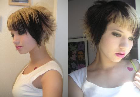2010 new trendy short funky hairstyles!Fashion today is all about sharing