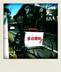 若宮大路の人力車@鎌倉