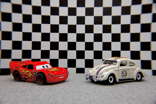 Lightning McQueen vs. Herbie (10/365) by JD Hancock, on Flickr