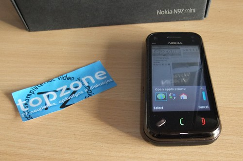 Nokia N97 Mini: mobilusis telefonas/kompiuteris
