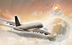 Wallpaper Airbus A380 Singapore Airlines - 1920x1200 (Photoshop CS4)