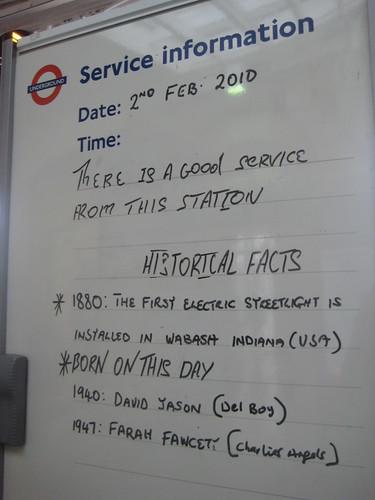 Kew Gardens Tube - Service Information