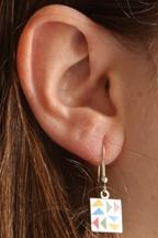 Quilt Block Earring