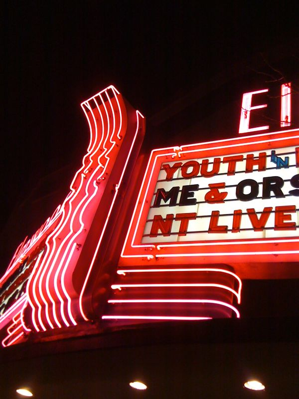 iPhoneography: Two Theaters - The Elmwood Theater Marquee