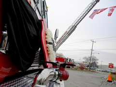 Point Edward Fire & Rescue Full Honours (Front Page Photography / Hooks & Halligans) Tags: rescue ontario canada point fire 1 engine flags full edward gary ladder kendall e1 honours