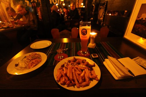 Giros dinner for one in Rendsburg, Germany.