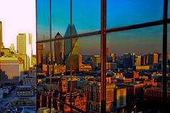 Reflections of... (Band!to) Tags: urban reflection rooftop skyline downtowndallas dallastexas oldred