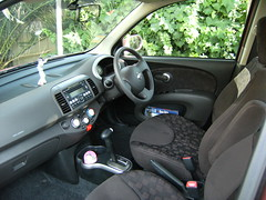 Micra interior (Suzieboots) Tags: pink car nissan elvis micra firstcar belgianchocolate citycollection londonrose