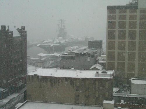 Snow on the Intrepid