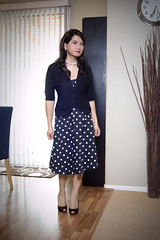 polka dot friday (bethantics) Tags: wardroberemix whatiworetoday outfitoftheday polkadotdress