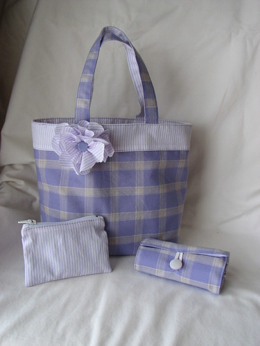 Little Girl Bags with crayon roll and coin purse