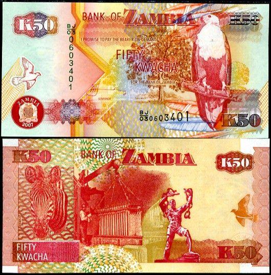 ZAMBIA 50 KWACHA 2007