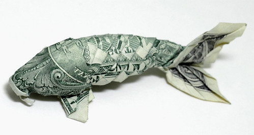 Koi fish origami