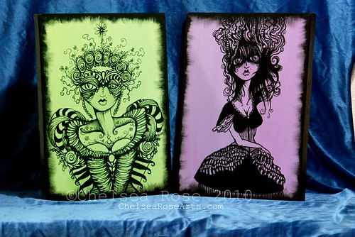 Masquerade and Poetess canvas art