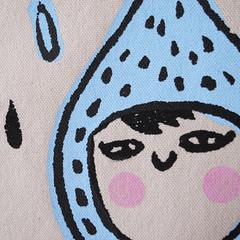 Raindrop tote bag (Le Petit Pig) Tags: cute handmade silkscreen raindrop lepetitpig