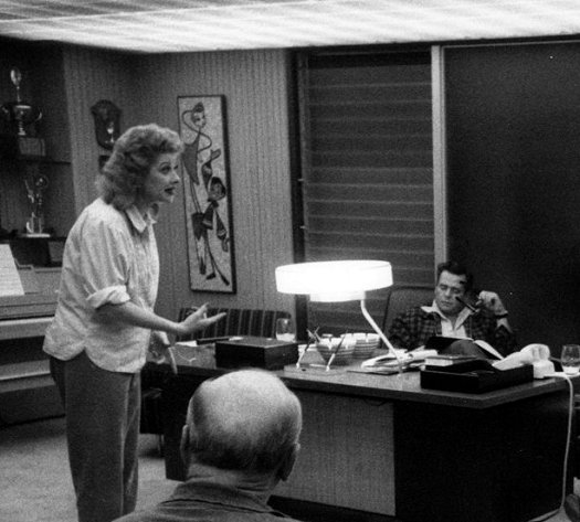 Lucy and Desi in office