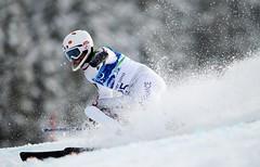 Vincent Gauthier lors de l'épreuve de slalom aux jeux paralympiques de Vancouver