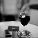 a glas of wine