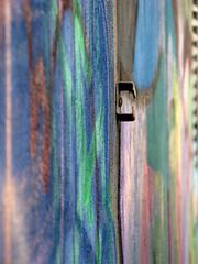 Wall of Colors (Rho178) Tags: urban colors vertical wall canon graffiti powershot shallowdof a720