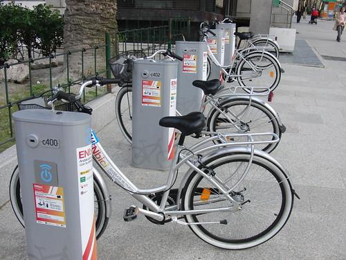 anatomía del parque de la victoria de jaén: alquiler de bicicletas