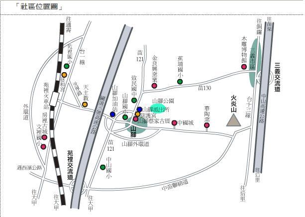 山腳社區地圖