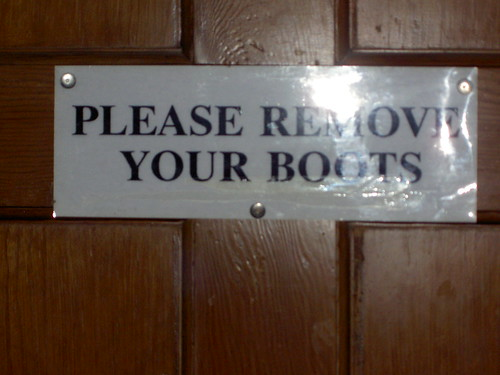 Please Remove Your Boots