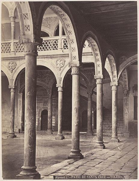 Museo de Santa Cruz hacia 1880. Fotografía de Casiano Alguacil