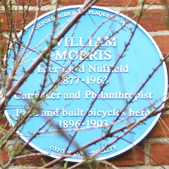 Photo of William Morris blue plaque