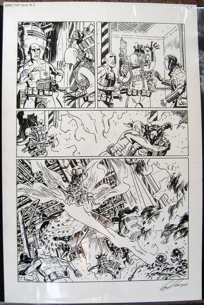 BPRD Original Art Page Guy Davis posted by 11 O'Clock Comics forum member