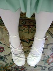 042110 shoes (burialofstars) Tags: blue brown white black cute girl socks ruffles shoes dress sweet mint lolita bow bustle headdress