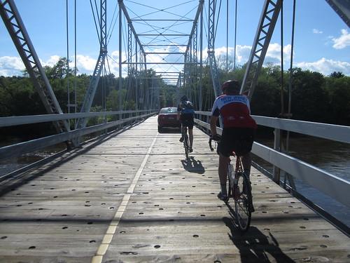 Jud and Roy on Dingmans Ferry Bridge