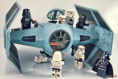 Hurry, boys ! (storm TK431) Tags: starwars lego tie stormtrooper darthvader deathstar advanced revell easykit