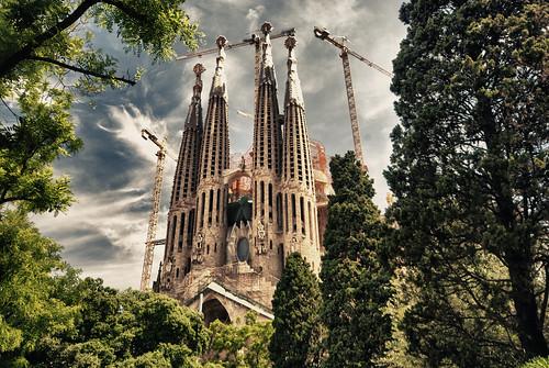 フリー写真素材, 建築・建造物, 教会・聖堂・モスク, サグラダ・ファミリア, 世界遺産, スペイン,