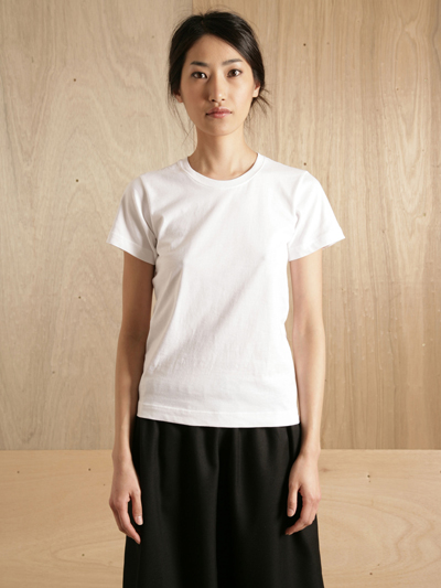 www.ln-cc.com Comme des Garcons Shirt Women's Black Ribbed T-Shirt